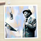 FRANK SINATRA poster photo portrait painting CANVAS ART PRINT (Rolled)