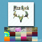 Nice Rack Moose Hunting - Decal Sticker - Multiple Patterns & Sizes - ebn471