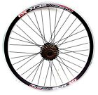 "26"" QR MTB REAR DISC BRAKE WHEEL WITH 7 SPEED SHIMANO FW. DOUBLE WALL V  RIM,"