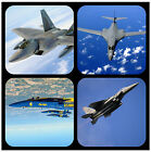 JET FIGHTERS - SOUVENIR NOVELTY COASTERS - EASY CLEAN - NEW - GIFT/ XMAS / B/DAY