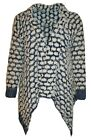 New Ladies Womens Qed London Open Tassle Cardi Cardigan Jumper Top Small - Large