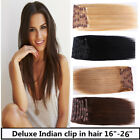 USA STOCK! Deluxe 26 inch Indian Remy Human Hair Clip In Extensions 9pcs & 220g