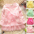 Baby Long Sleeve Girls Clothes Dress Toddler Infant Girl Party Wedding Dresses