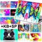 Colorful Painted Hard Case+UK Keyboard Screen Cover For Macbook Air 11 Pro 13 15