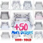 8 PC NURSER BABY COT - COT BED SET BUMPER+COVERS+DUVET+MORE- BABY GIRL -BOY