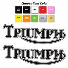 "Triumph motorcycle retro tank Qty 2 Decal Sticker Set 2.5""x8"" / Pick Your Color $8.99 USD on eBay"