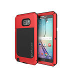 Note 5 Case, Punkcase® METALLIC Series RED for Galaxy Note 5 W/ TEMPERED GLASS