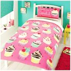 Rapport Kidz Pink Sweet As A Cupcake Girls Duvet Set Single Or Double