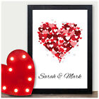 Valentines Gifts Personalised Present - I Love You Heart Valentines Day Gifts