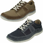 CLARKS Ripton Plain Mens Canvas Casual Lace Up Shoe