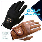 10 BRAND NEW MD GOLF MEN'S BLACK(BROWN) FINE CABRETTA GLOVES