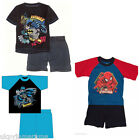 Boys Batman DC Comics Marvel Spiderman Short Pyjamas Official Licensed New
