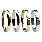 NEW 2mm Wedding Rings Bands Sale 9ct 18ct Palladium Platinum Fully UK Hallmarked