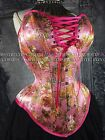 NEW MCC-30 PLUNGE FLORAL P OVERBUST CORSET TIGHTLACING WAISTTRAINING MYSTIC CITY