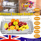 Pull Out Pantry Organiser Kitchen Base Storage Wire Basket For 350~600 Cabinet