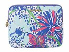 New Lilly Pulitzer iPad Tech Clutch Bag Resort White IN THE GARDEN Purse Handbag