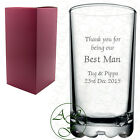 Personalised Engraved Pache Hiball Hi Ball Mixer Glass Best Man Wedding Gift
