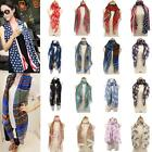 Women Voile Neck Warm Totem Pashmina Cotton Print Scarf Shawl Wrap Stole Soft