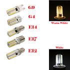 1/10X E12 E14 E17 G9 3014SMD Warm/Cool White 80LED Dimmable Corn Bulb Lamp Light