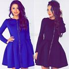 Sexy Women Autumn Winter Long Sleeve BodyCon Slim Cocktail Party Mini Dress C46