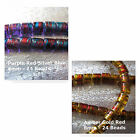 Foiled Glass Beads 8mm 24 Beads Jewelry Spacer Focal Beads Purple Amber