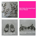 Earring Bali Style Drops Clasps Silver Plated Jewelry Supply Beading