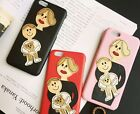 IPHONE 6 6S PLUS 6 IPHONE 5S 5 Embroid Family Mom Dad Daughter Baby leather case