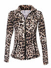 Blockout Activewear Fitness Leopard Print Fitness Jacket Gym Yoga