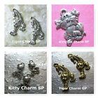 Kitty Cat Charms Tiger Cgarm Gold Plated Silver Plated