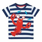 Bluezoo Kids Boys' Navy Lobster Applique T-Shirt From Debenhams