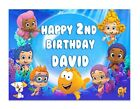 Bubble Guppies Birthday Edible Image Cake Topper Personalized Frosting Sheet