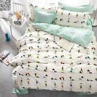 Striped&Floral DOUBLE QUEEN Size Bed New Cotton Quilt/Duvet/Doona Cover Set