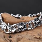 Gothic Punk Classic Skull Men's Jewelry 316L Stainless Steel male Bracelet 22cm