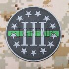 The Thin Green Line 3% III PERCENT DEFEND LIBERTY 3D PVC Patch