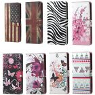 New Magnetic Flip Stand PU Leather Wallet Card Hard Case Cover or black headset
