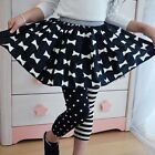 Fashion Princess Kids Baby Girls Polka Dot Stripe Leggings Trousers Pants 1-9Y