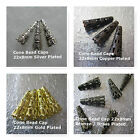 Bead Cap Cones 22x8mm Gold Silver Copper Brass Plated Jewelry Findings