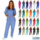 Внешний вид - Unisex Men/Women Medical Hospital Nursing Uniforms Scrub Set Top & Pants 2XS-5XL