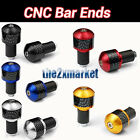 "7/8""Universal Handlebar carbon fibre end Grips Bar Ends Plugs Slider Barends"