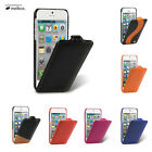MELKCO LC Premium Real Leather FLIP Case Cover For Apple iPhone 5 5S SE - Jacka