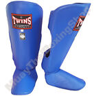 Twins Special Muay Thai Boxing Shin Guards SGL-2 Blue Size S-M-L.