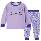 Pyjamas Girls Winter Cotton Knit Pjs (Sz 3-7) Set Lilac Purple Bunny Face Sz 3 4