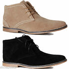 MENS DESERT BLACK SUEDE LACE UP CASUAL WORK FASHION ANKLE BOOTS SHOES SIZE