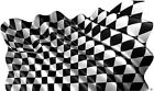 Checkered Racing Flag decal Camper RV motor home mural graphic