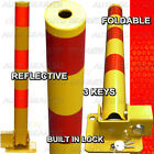 Round Reflective Folding Private Reserved Parking Bollard Security Post Bar AC2