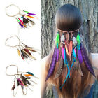 Boho Hippie Removable Feathers Tassels Plaited Braided Headband Party Festival
