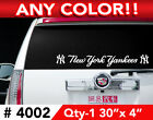"""NEW YORK YANKEES LOGO/WORDS DECAL STICKER 30""""x4"""" ANY 1 COLOR on Ebay"""