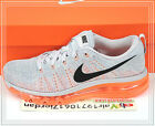 Nike Wmns Flyknit Max Grey Orange 620659-508 US 6~8.5 Running Shoes