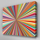 AB934 Coloured stripes red orange Canvas Wall Art Abstract Picture Large Print