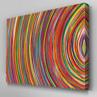 AB935 swirl multi colour yellow red Canvas Wall Art Abstract Picture Large Print
